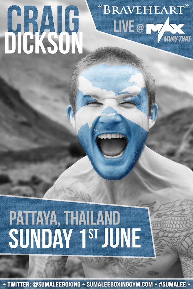 Craig Dickson confirmed for 'Max Muay Thai' Pattaya- 1st June