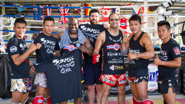 Stan, David, Anuj and the team from Martial Arts Illustrated