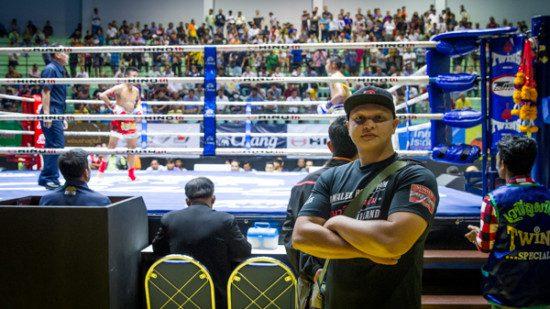 Mike Davis at Lumpinee Boxing Stadium, Bangkok