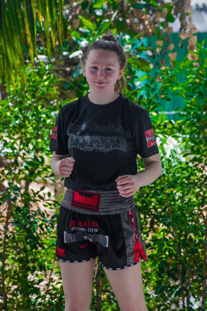 Rhona Walker at Sumalee Muay Thai Gym, Phuket