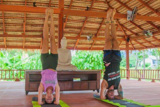 Nikki Carter & Parker Hurley- Yoga Headstand