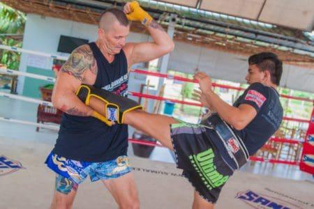 Ron Creech - Training Muay Thai