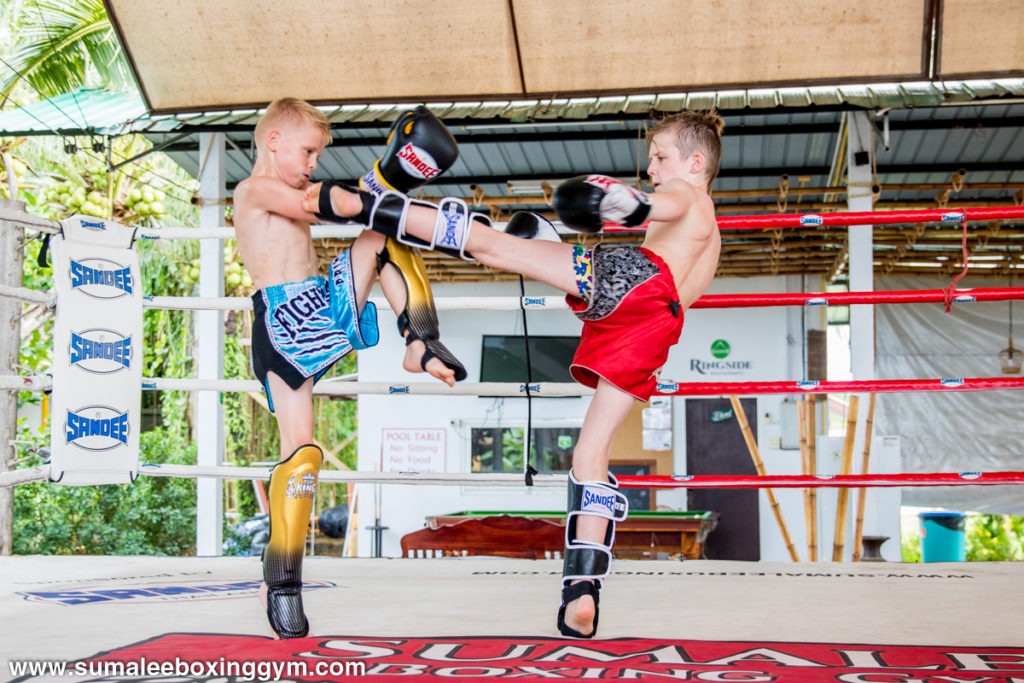 Juniors Sparring at Muay Thai Camp in Thailand
