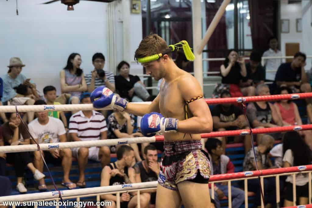 Matthew Butcher at Bangla Boxing Stadium - Wai Khru - Muay Thai Action