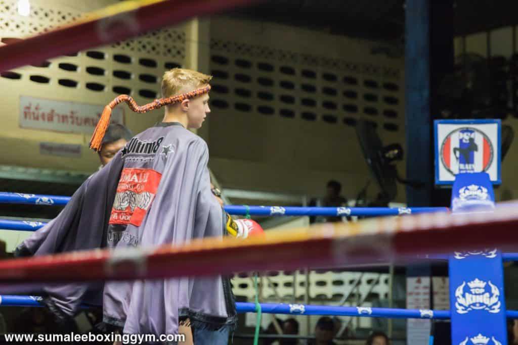 Joe Le Maire at Patong Boxing Stadium - Entrance - Muay Thai Action