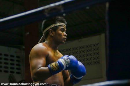 Khru Pax at Patong Boxing Stadium