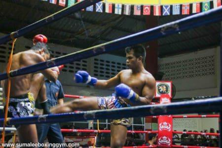 Khru Pak at Patong Boxing Stadium