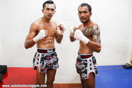 Kengkla Sor Kamsing and Phunkorn Sumalee - Fight Pose