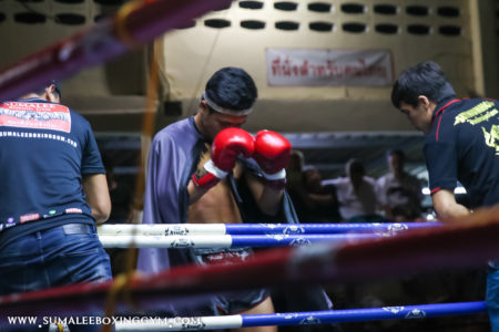 Watch Ellie Burr and Yok Sumalee Fight at Patong Stadium