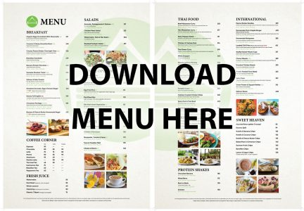 Our New Restaurant Menu | Sumalee Boxing Gym
